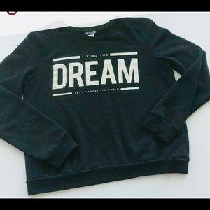 Joe Boxer sweatshirt GUV hoodie black and white M
